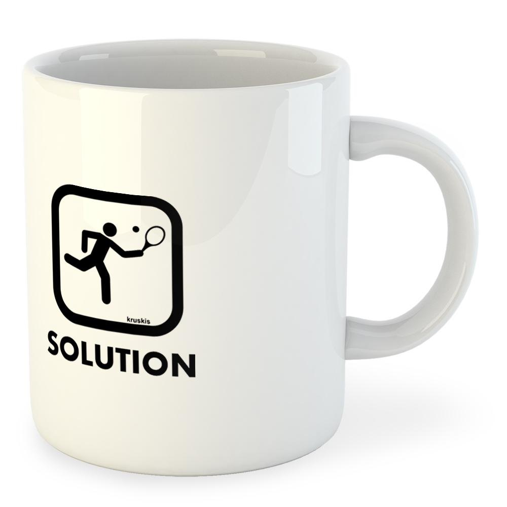 Kruskis Mug Problem Solution Smash 325ml 325 ml (11 oz) White