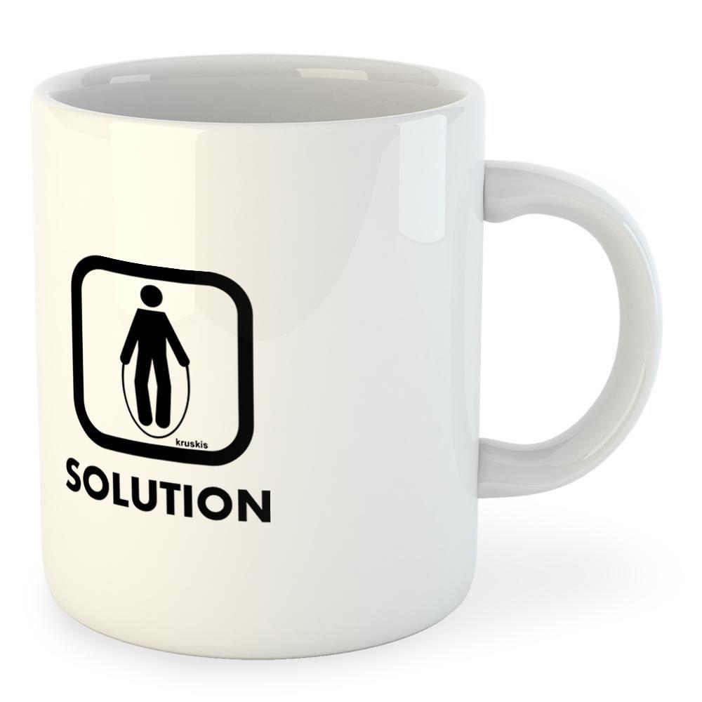 Kruskis Mug Problem Solution Train 325 ml (11 oz) White