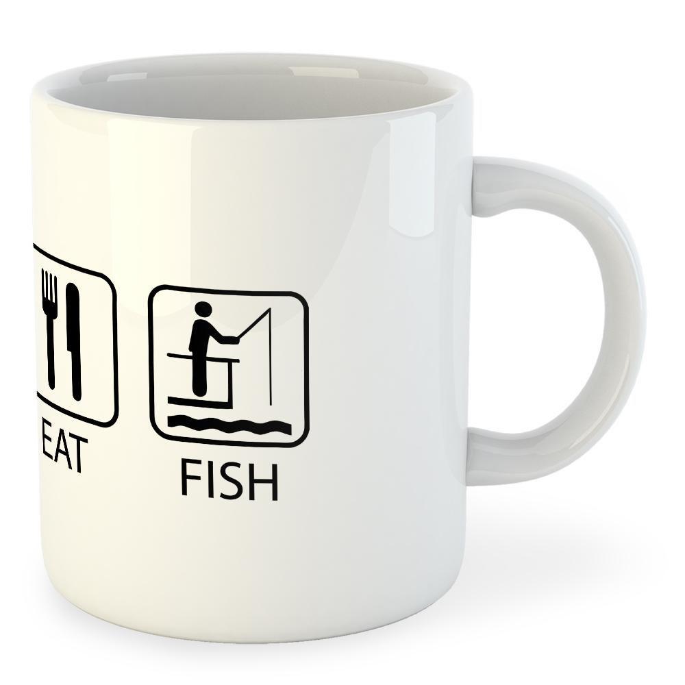 Kruskis Mug Sleep Eat And Fish White Kruskis , Merchandising Kruskis White , sports 86c85d