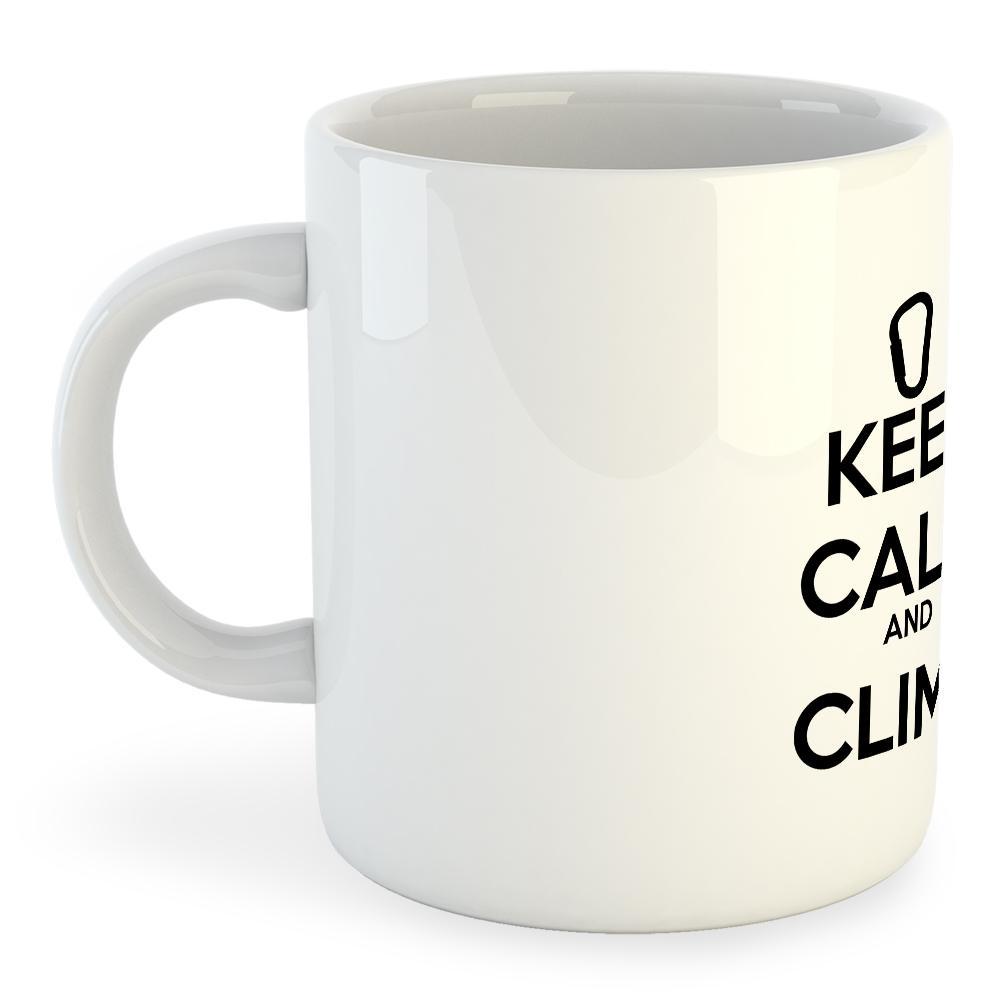 Kruskis Keep Calm And Climb Mug 325ml 325 ml (11 oz) White