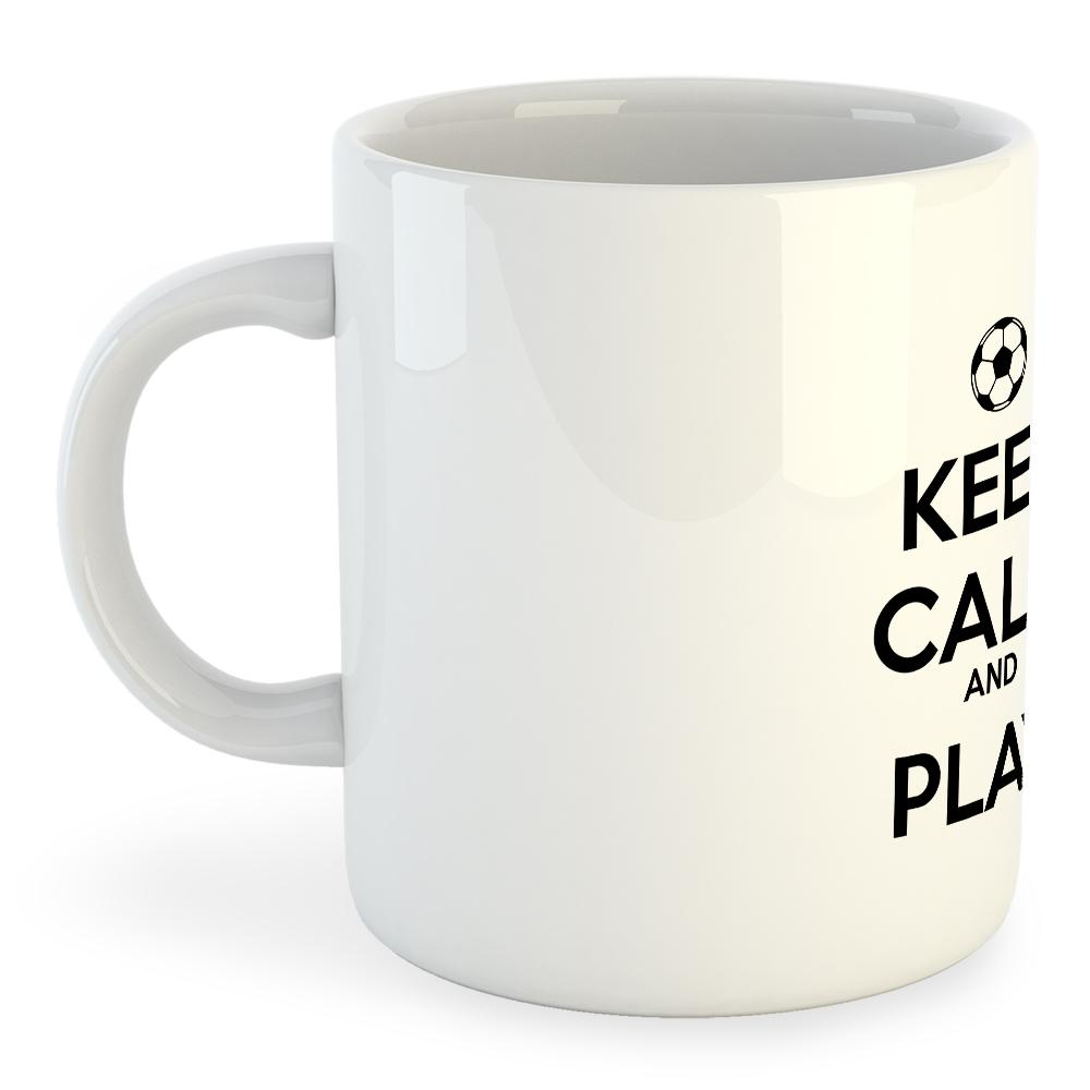 Kruskis Keep Calm And Play Football 325ml One Size White