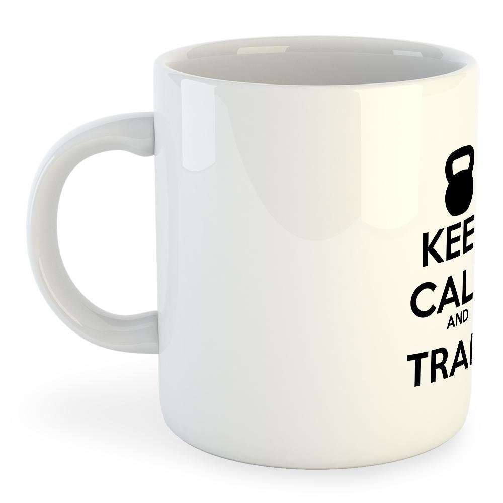 Kruskis Mug Keep Calm And Train 325 ml (11 oz) White