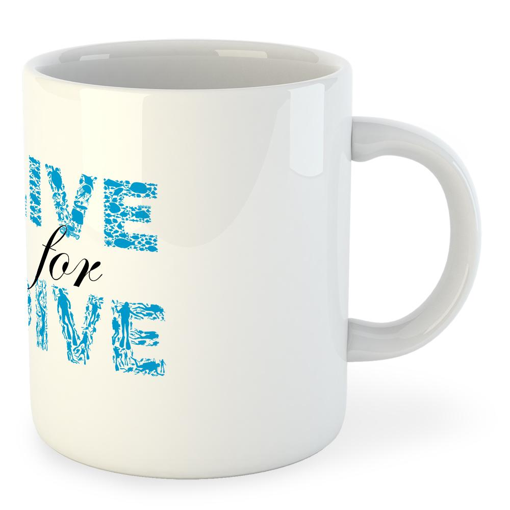 Kruskis Mug Live For For For Dive, Regalos, buceo, Accesorios ad2c12