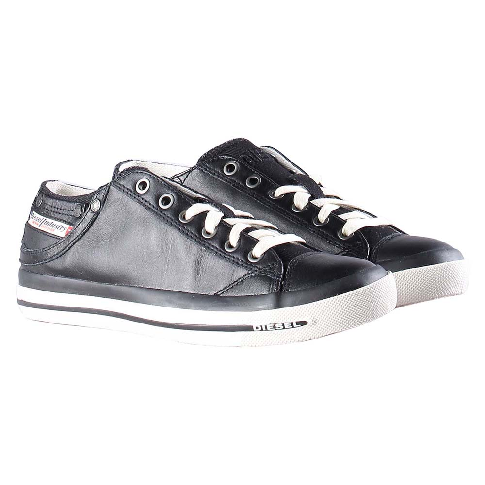Women s Diesel Exposure IV Low W Lace-up Trainers in Black UK 5.5 ... 1f874c3faf1
