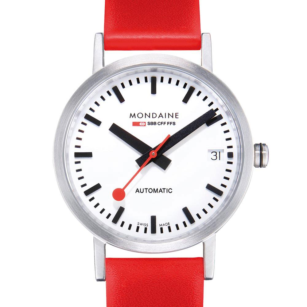 mondaine-classic-automatic-33-mm-white-red-leather