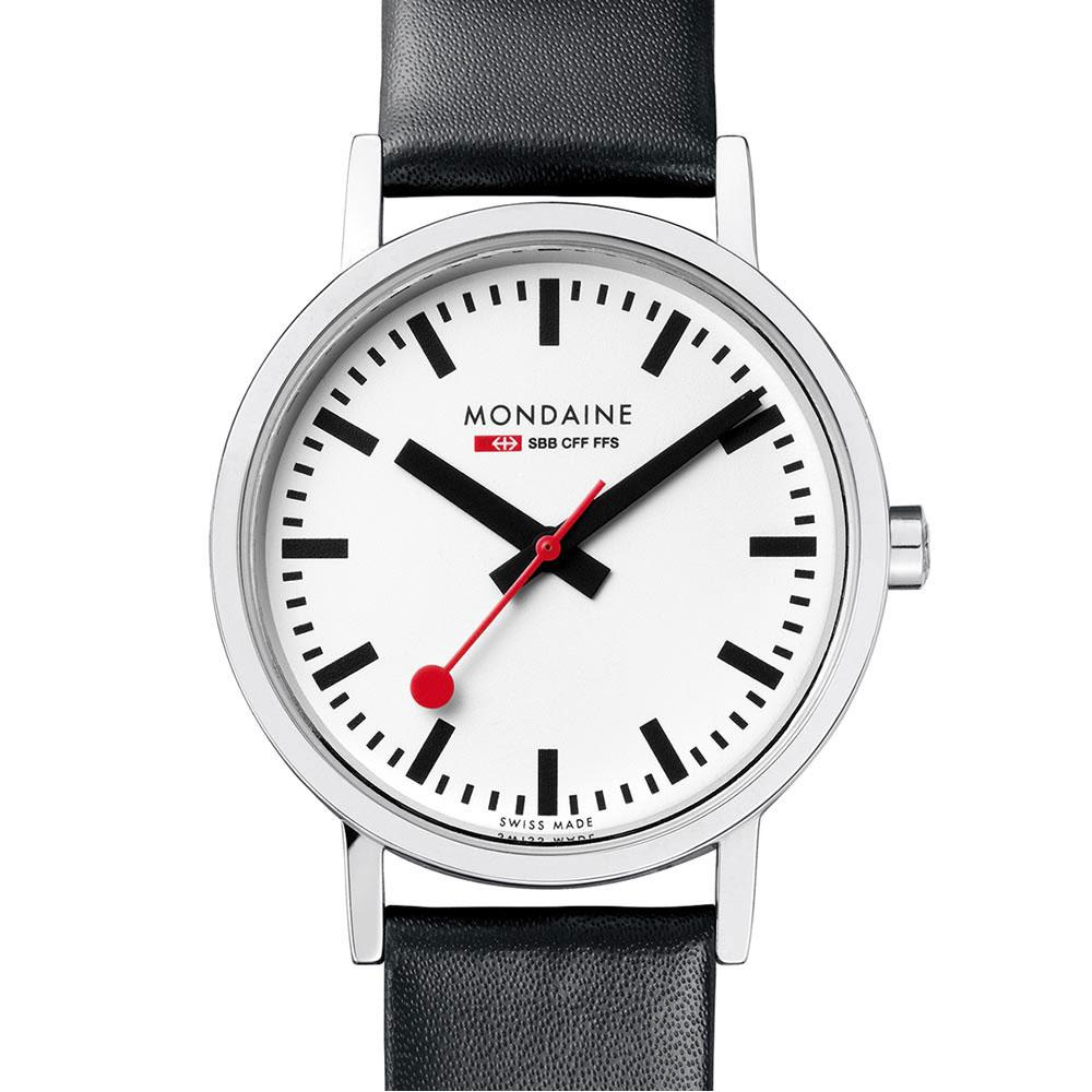 mondaine-classic-30-mm-white-black-leather-red-lining