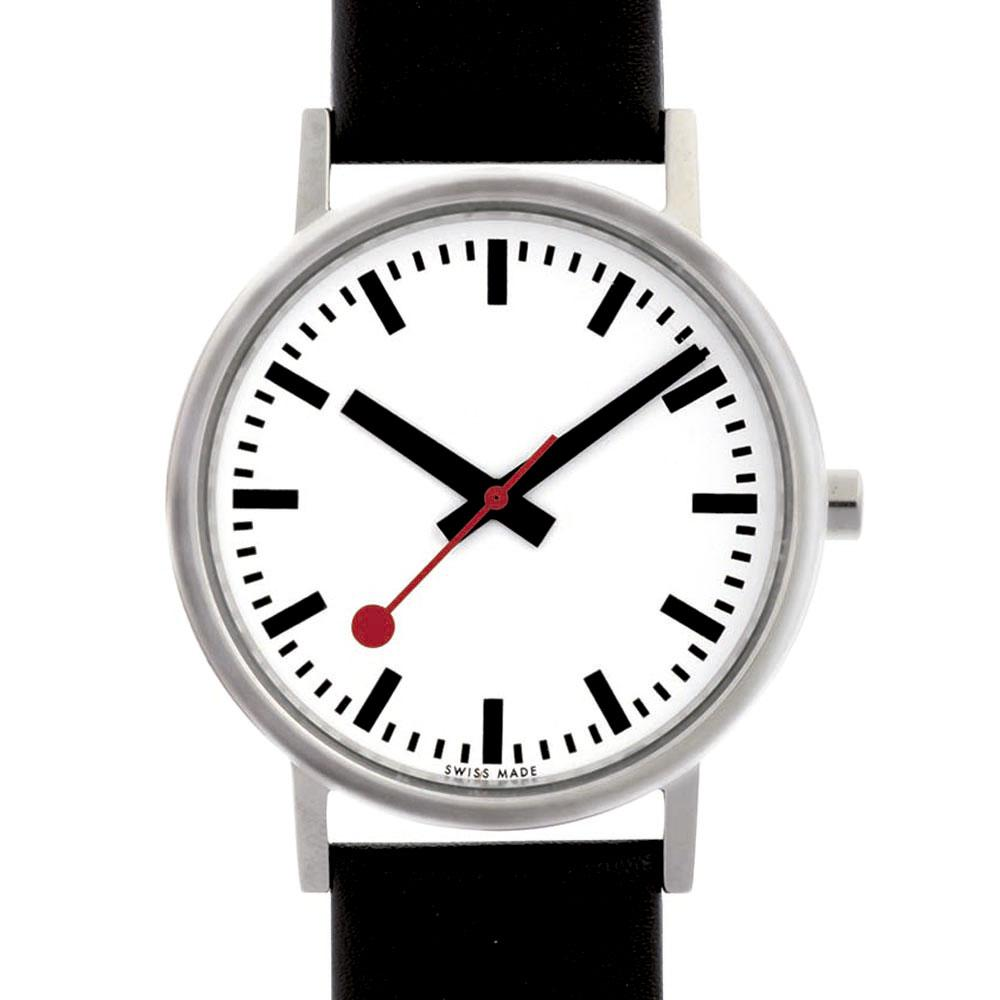 mondaine-classic-pure-36-mm-white-black-leather-red-lining