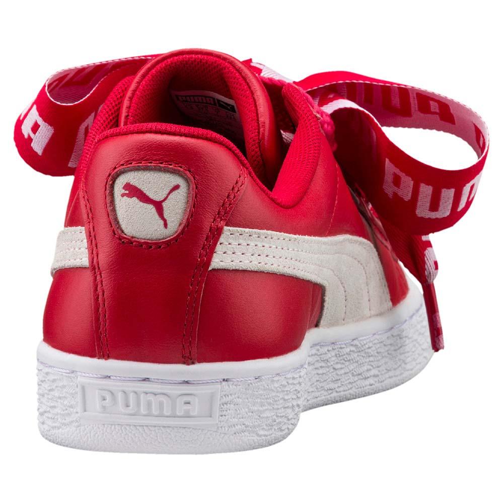 basket puma heart rouge