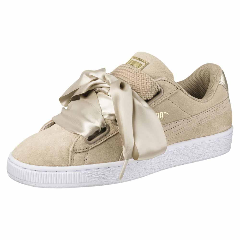 Dettagli su Puma Select Suede Heart Safari Beige T68746 Sneakers Donna Beige , Sneakers