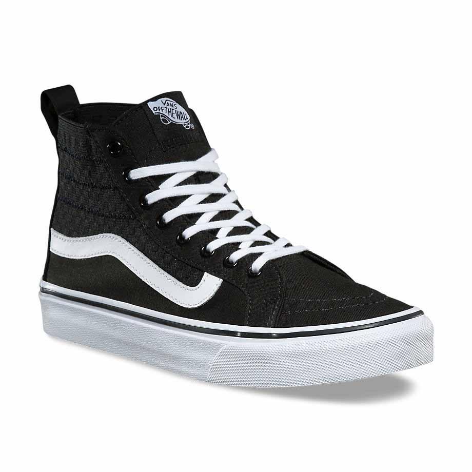Grandes descuentos nuevos zapatos Para Hombre Vans auténticas negro/blanco Zapatillas