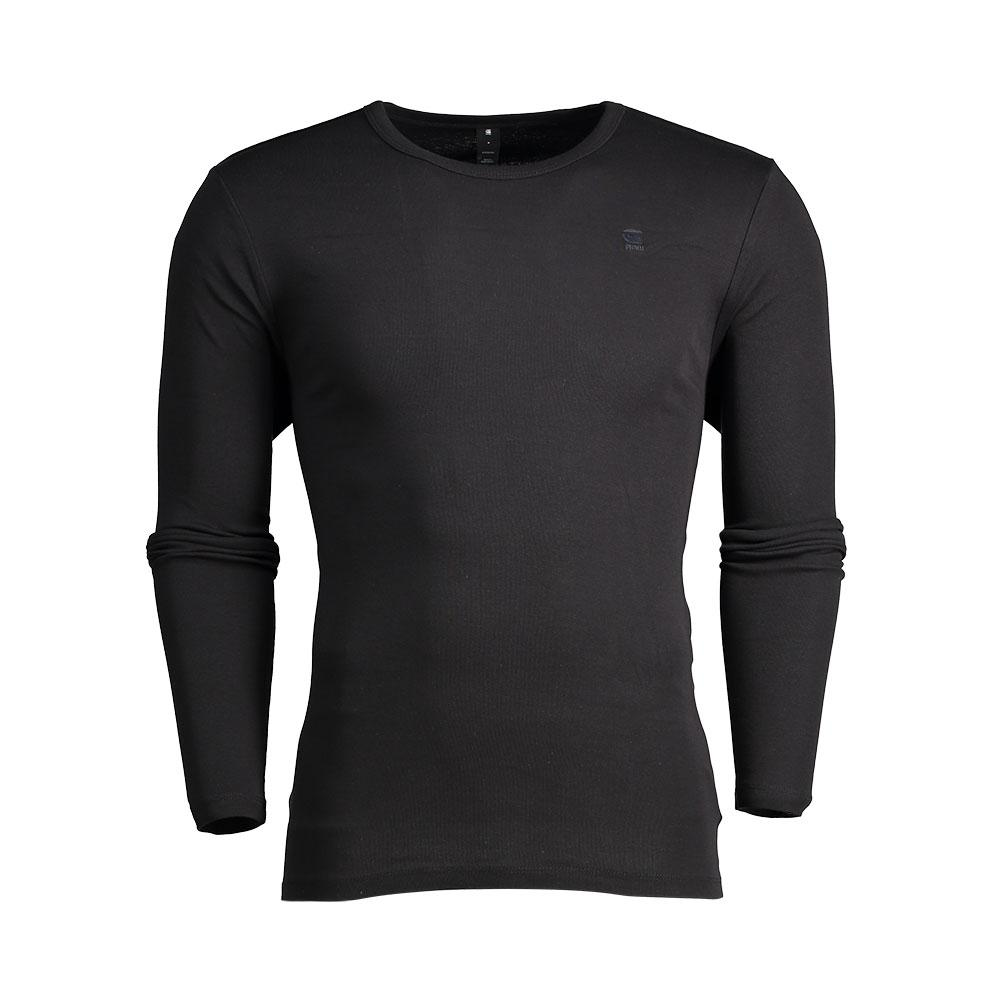 G-star Base Ribbed Neck Tee L/s 1-pack Premium 1 By 1 XXL Black