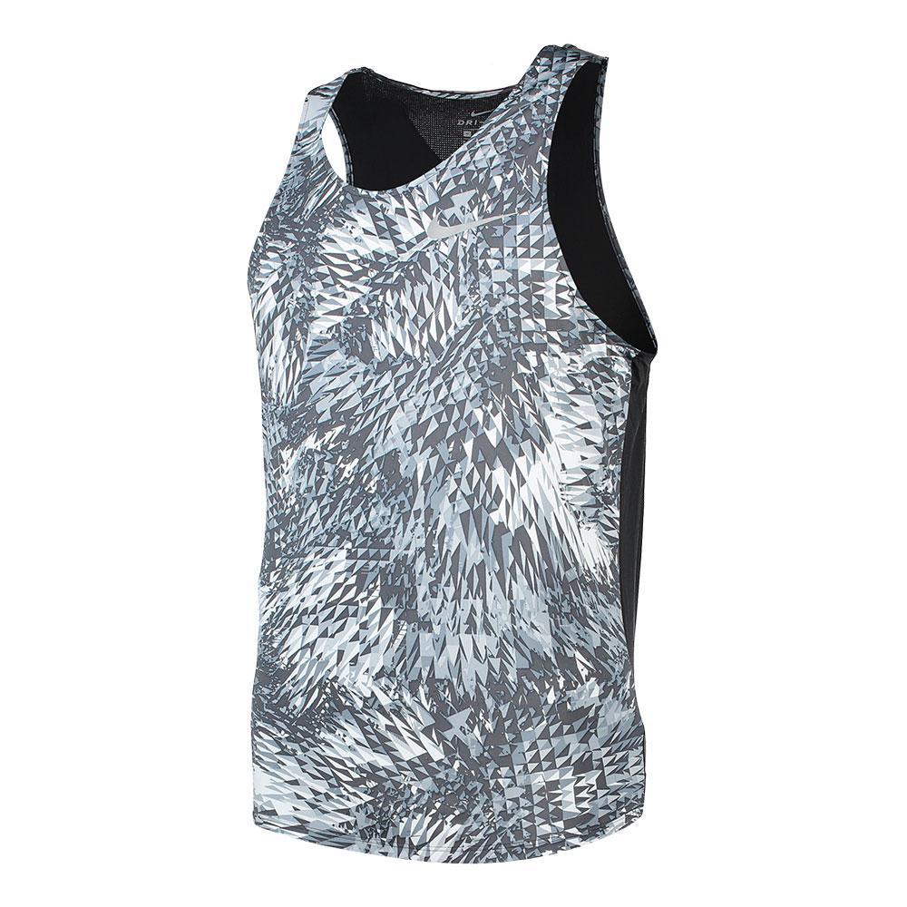 Nike Breathe Tank Raging XL Wolf Grey / Black