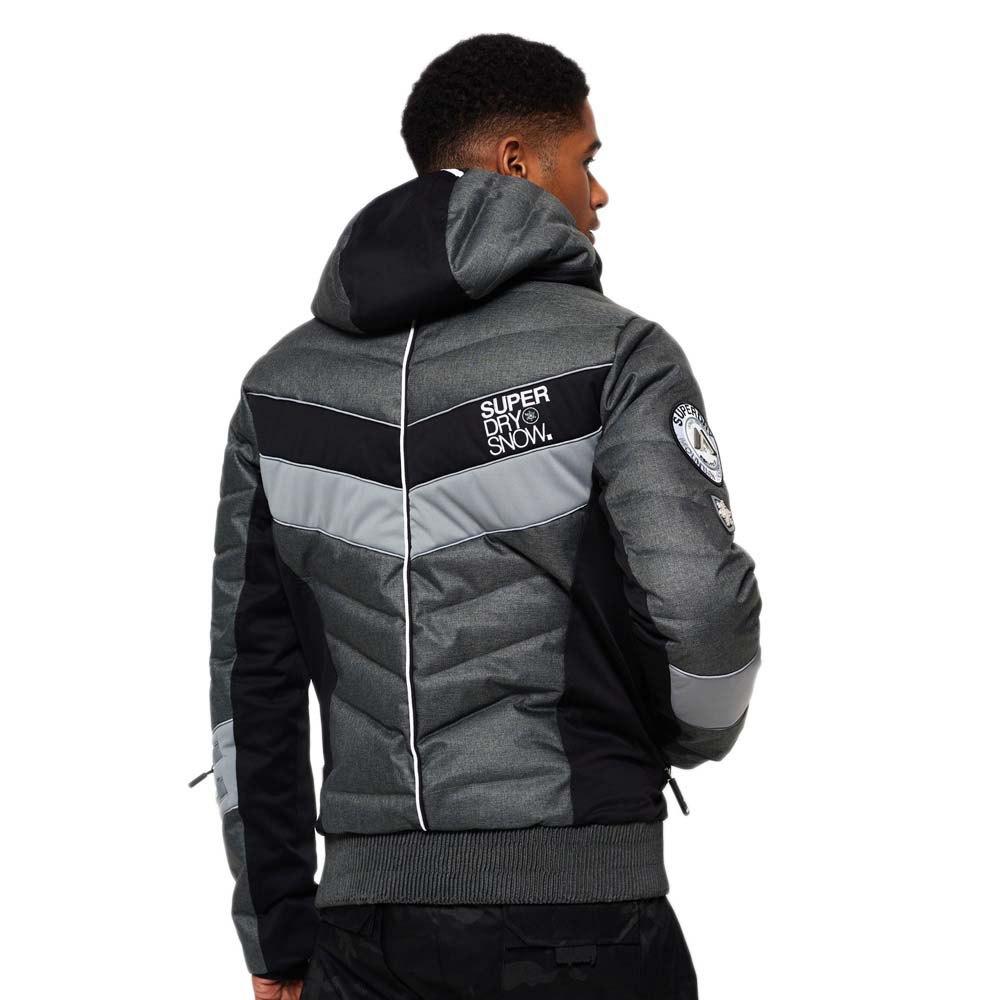Superdry Jacket Grey Grit Scuba Hooded Grigio Mega Slopestyle Giacche rwqgrRHSn