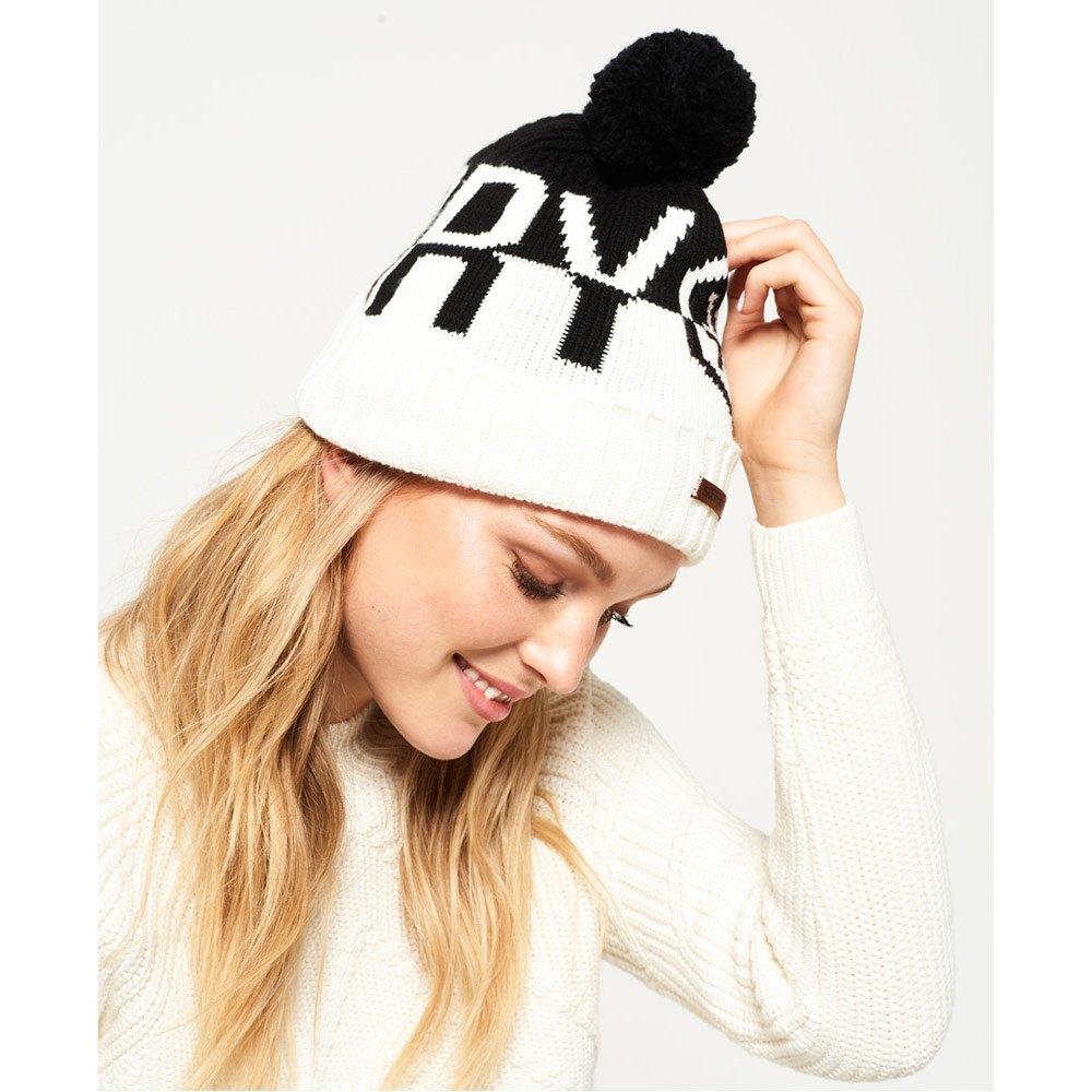 superdry-s-dry-snow-logo-one-size-black-white