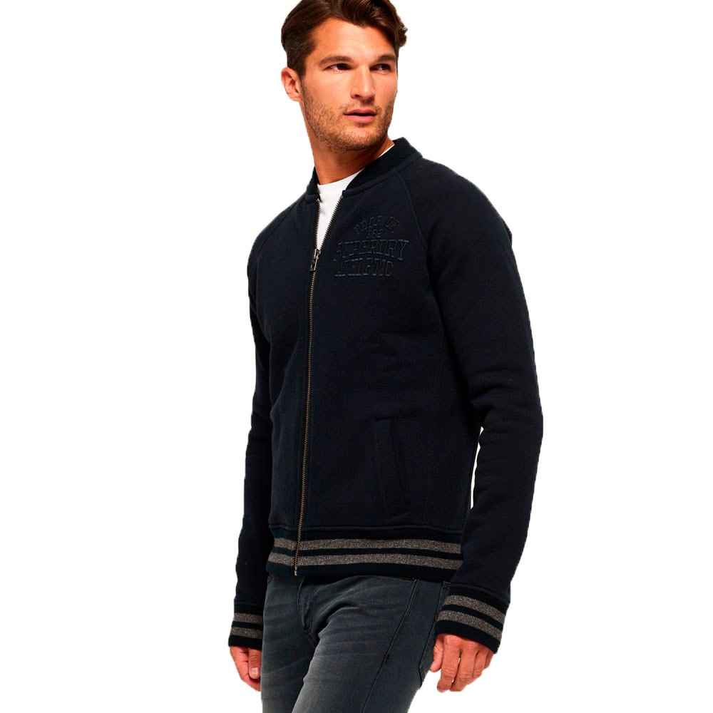 Superdry Applique Sweat Bomber S Eclipse Navy