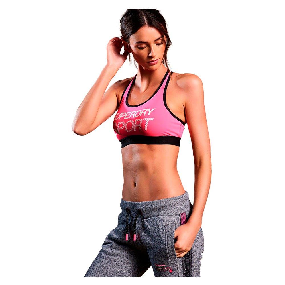 Superdry Sport Essential Graphic Bra XS Pop Pink