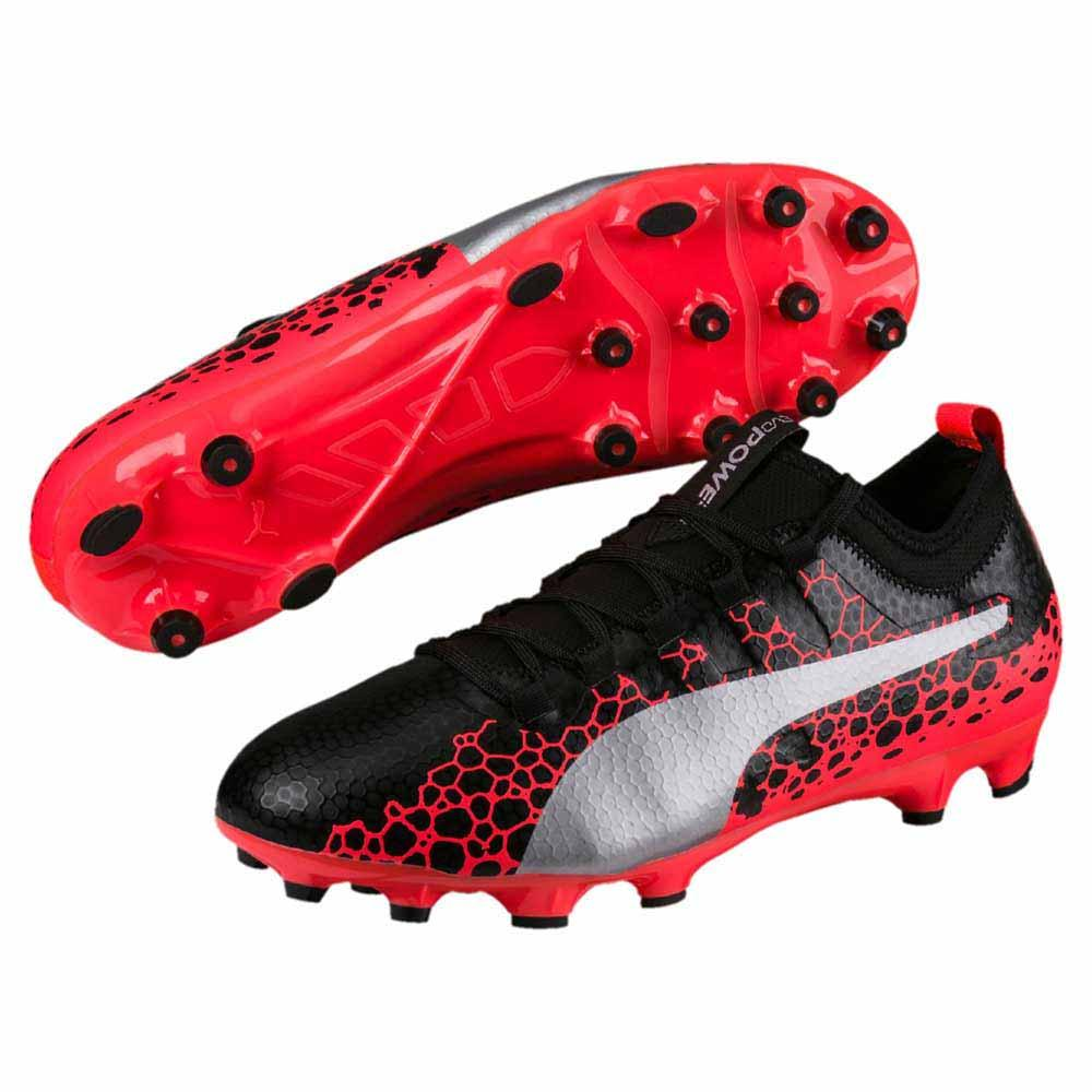 931bf57a18a1e Puma Evopower Vigor 3 Graphic Ag Black   Silver   Fiery Coral ...