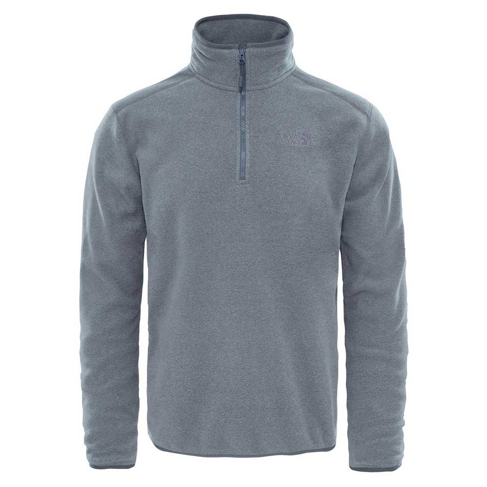 the-north-face-100-glacier-1-4-zip-xl-tnf-medium-grey-heather-high-rise-grey
