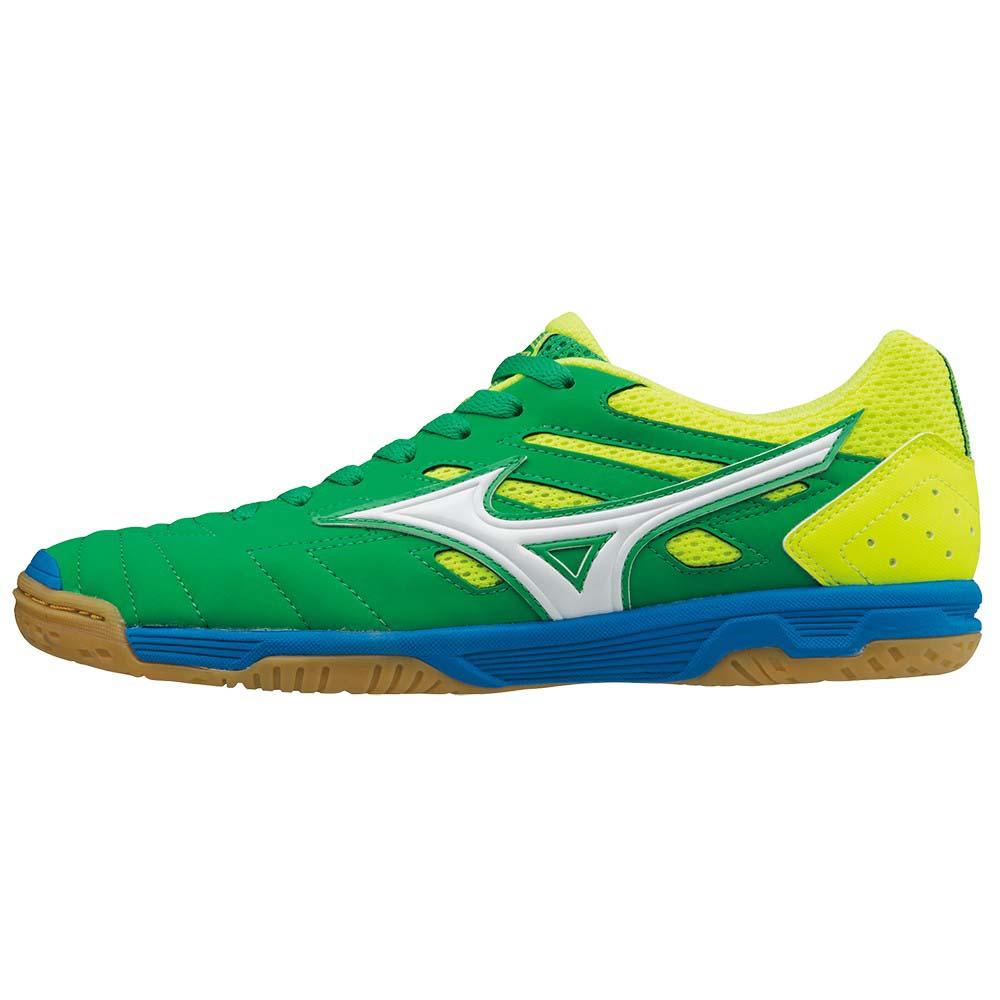 Mizuno Chaussures Football Salle Sala Classic 2 In EU 44 Bright Green / White / Safety Yellow