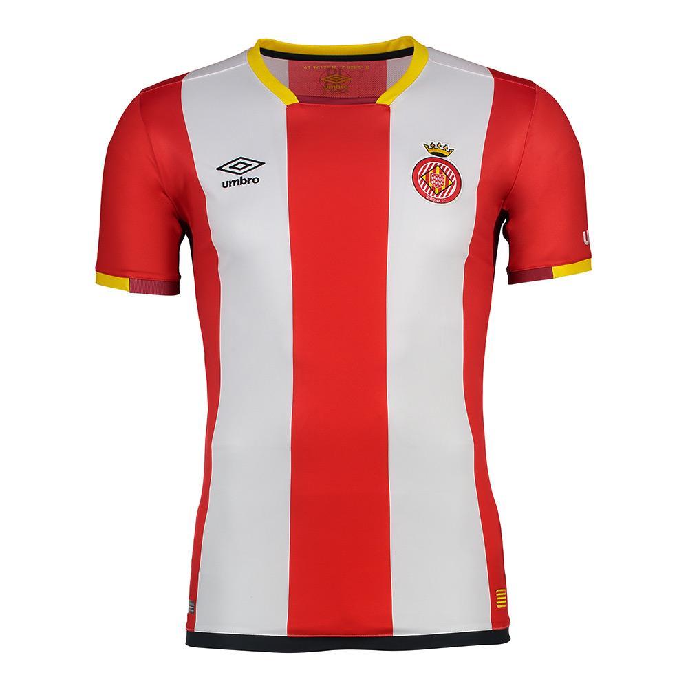 Umbro Girona Fc Home 17/18 Junior 14 Years Red / White
