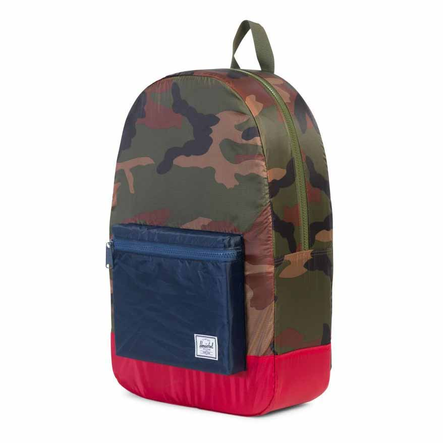 9c820234ca0 Herschel Supply Co. Packable Daypack Backpack Woodland Camo navy red ...