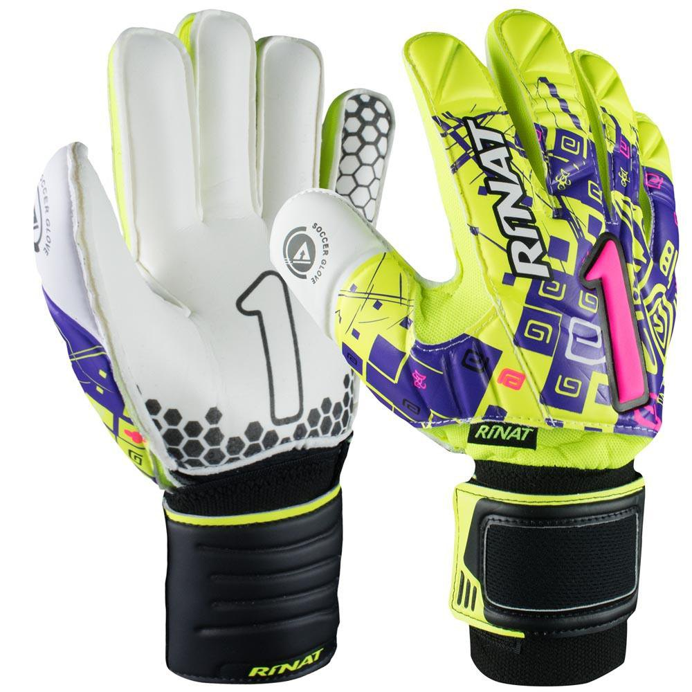 Rinat Asimetrik Etnik Semi Goalkeeper Gloves 4 Neon Yellow / Purple