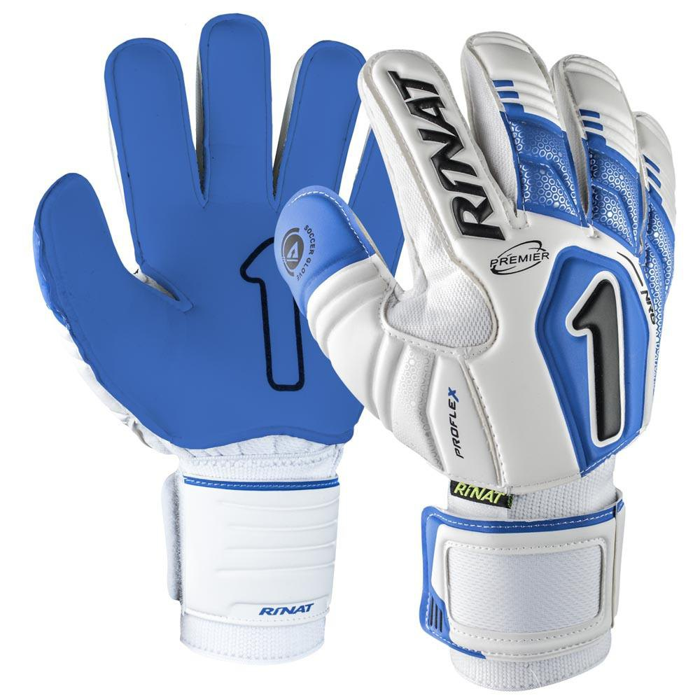 Rinat Uno Premier Nrg Semi Goalkeeper Gloves 4 White / Blue