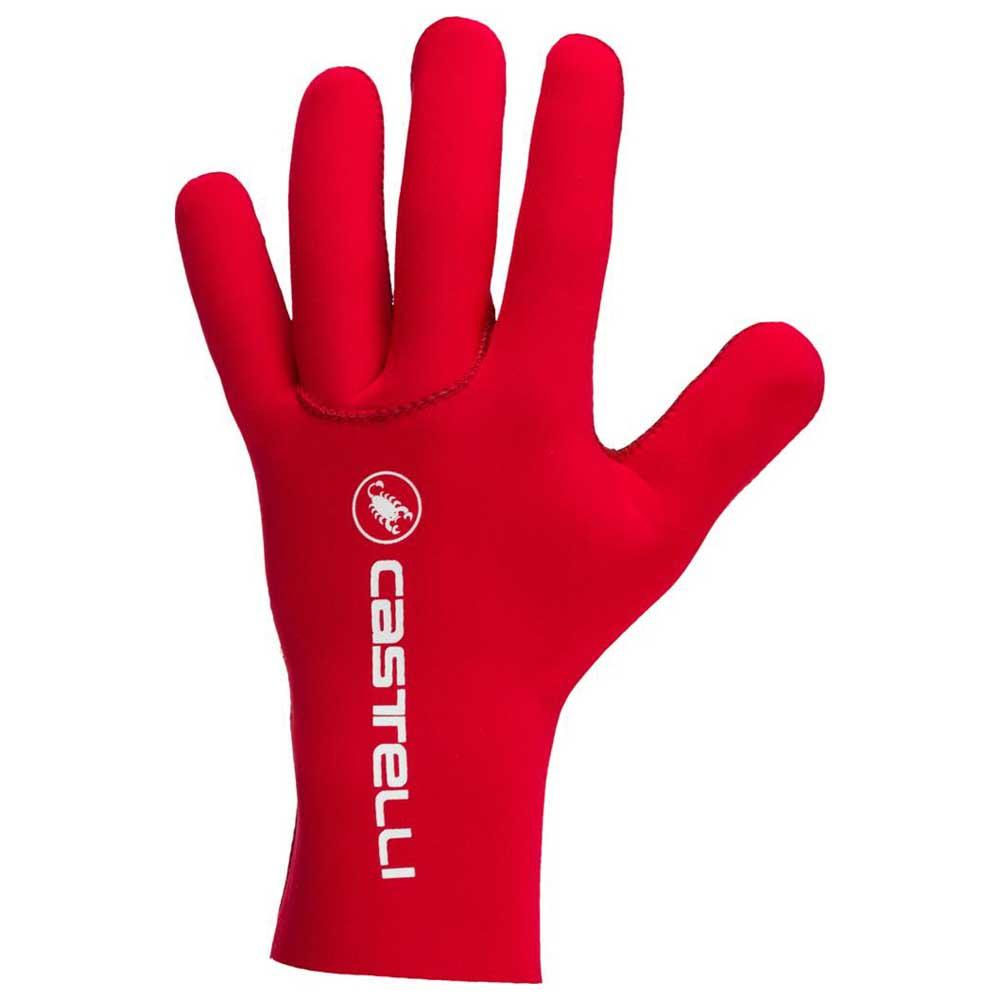 Castelli-Diluvio-Red-Guanti-Castelli-ciclismo-Abbigliamento-Uomo