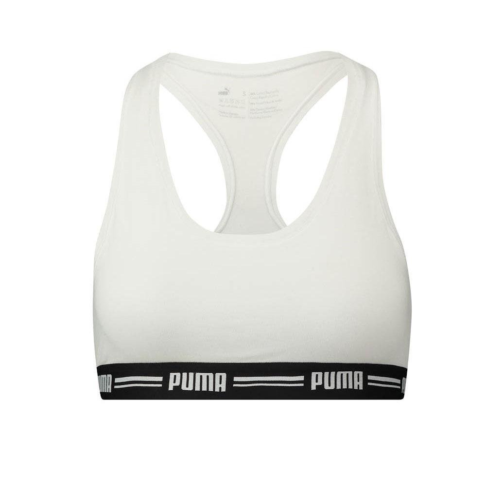Puma Iconic Racer Back Bra S White