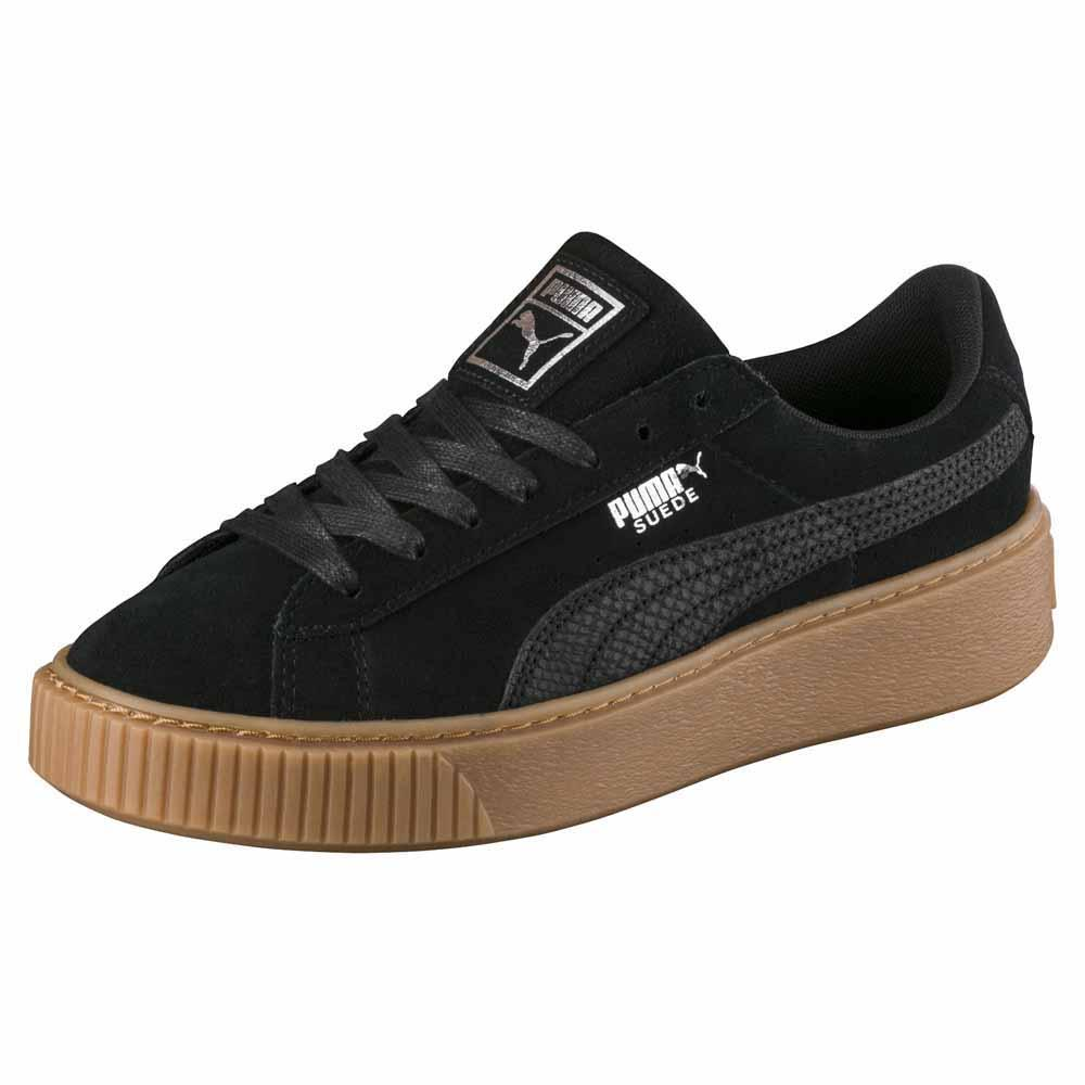 Détails sur Puma Select Suede Platform Animal Noir T45075 Baskets Femme Noir , Baskets