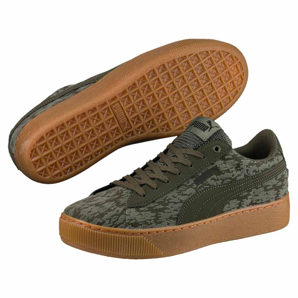 Vikky Puma Platform Baskets Night Vr Olive dpArHqp