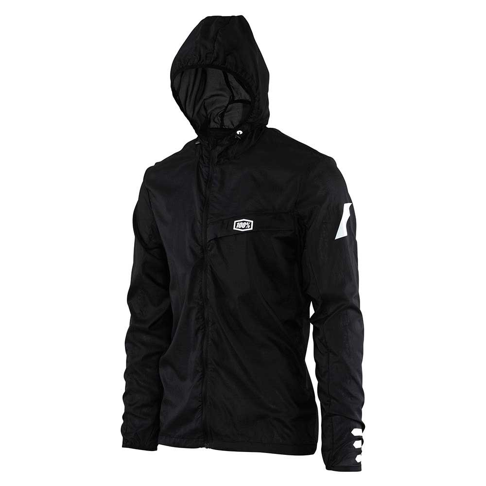 100percent Aero Tech Windbreaker M Black