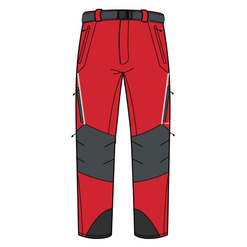 Trangoworld Prote Extreme Ds Regular Pants XXL Fiery Red / Magnet