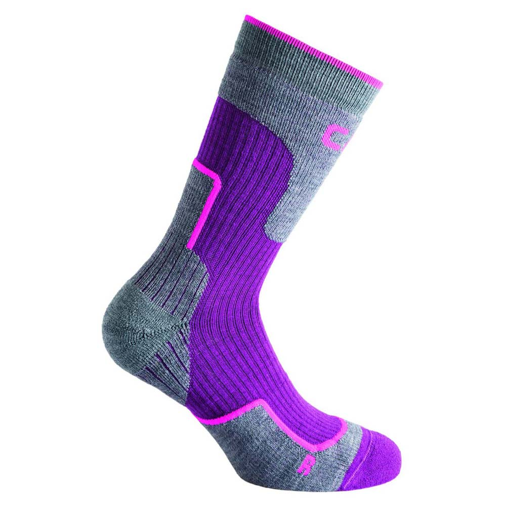 Cmp Chaussettes Trekking Wool Mid EU 31-33 Purple