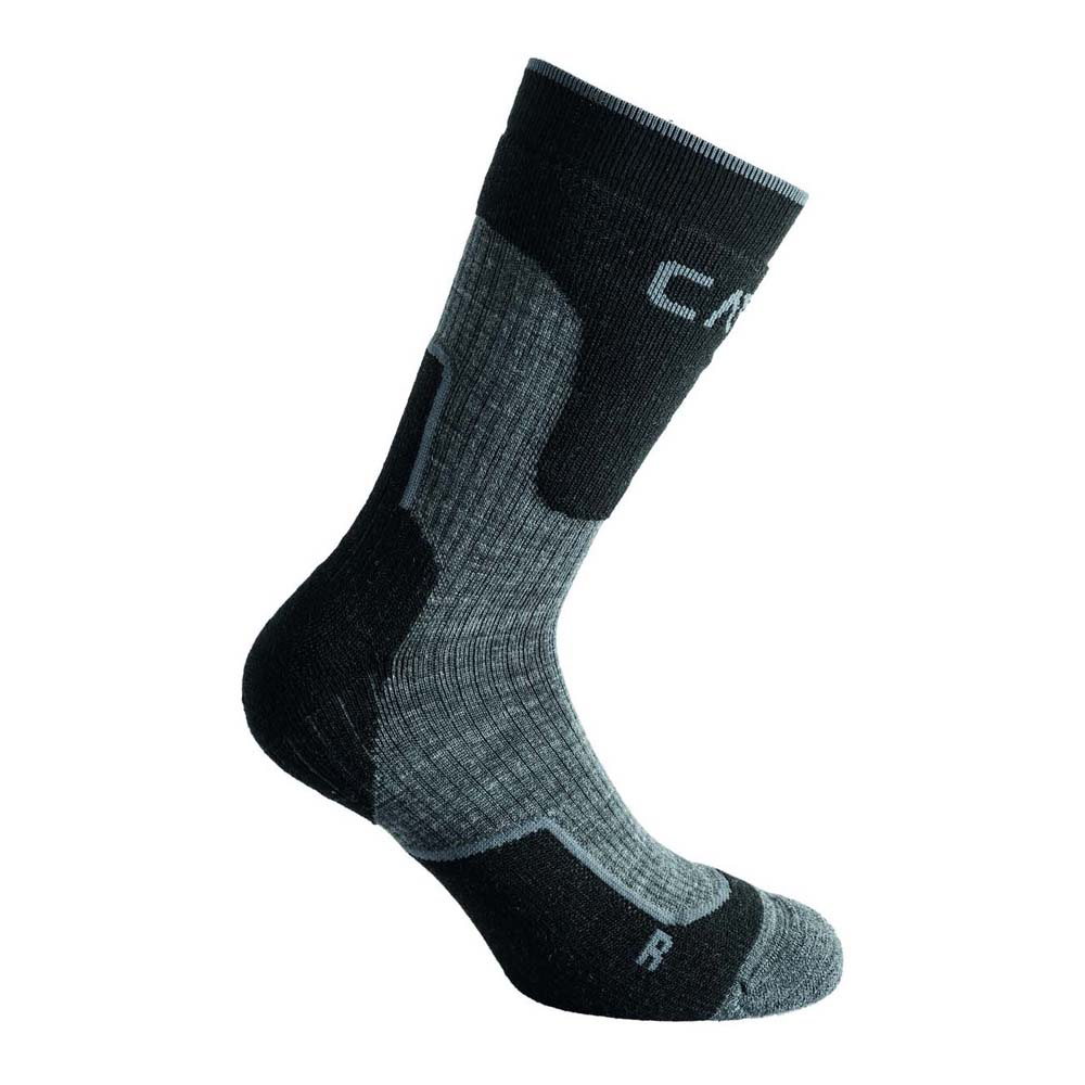 Cmp Chaussettes Trekking Wool Mid EU 31-33 Black