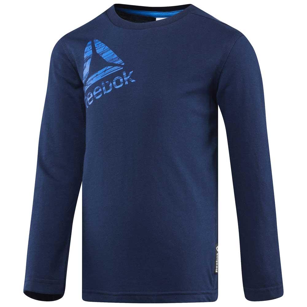 Reebok Boys Essentials T-shirt Manche Longue XXS Collegiate Navy