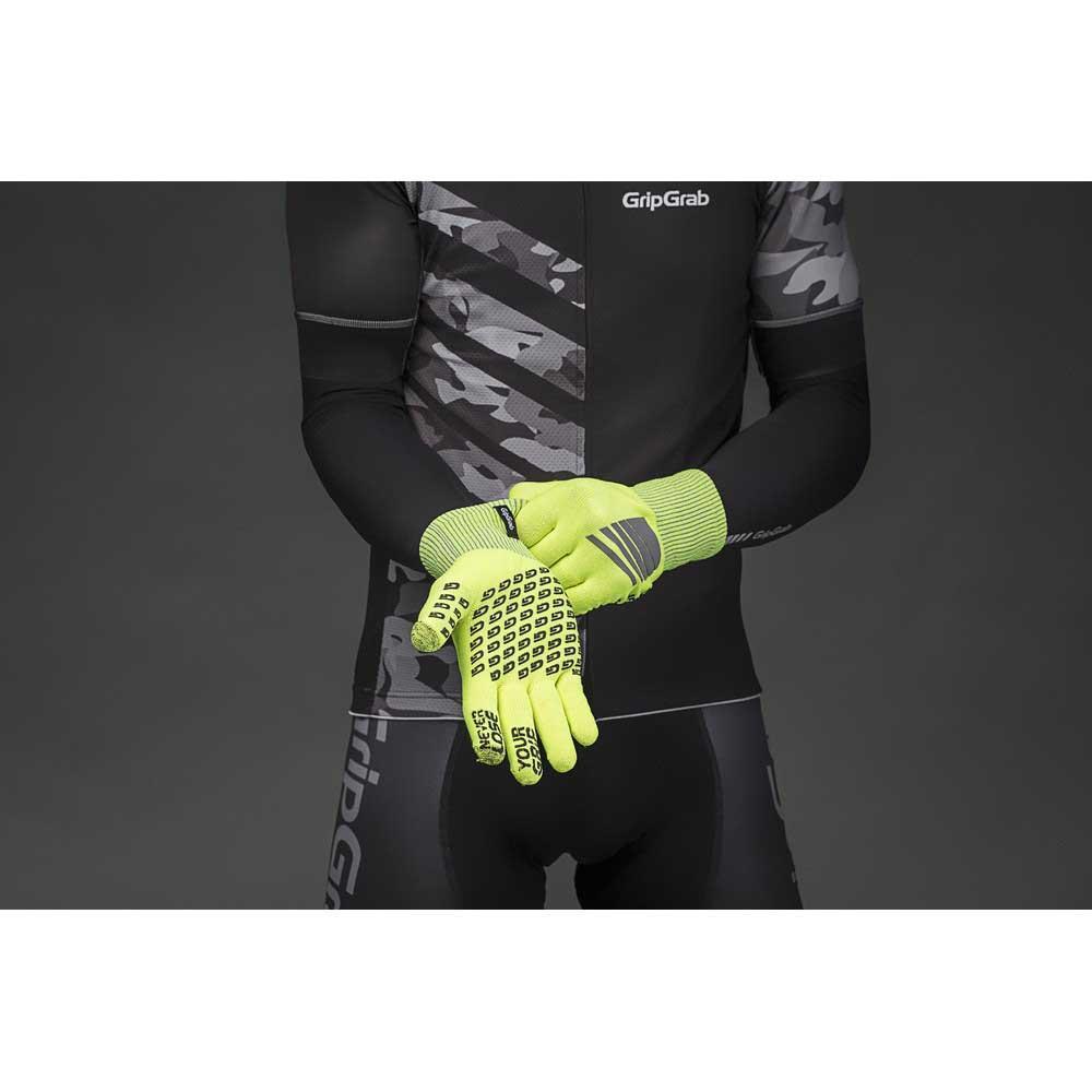 Gripgrab-Primavera-Hi-Vis-Yellow-T84490-Gloves-Male-Yellow-Gloves-GripGrab thumbnail 9