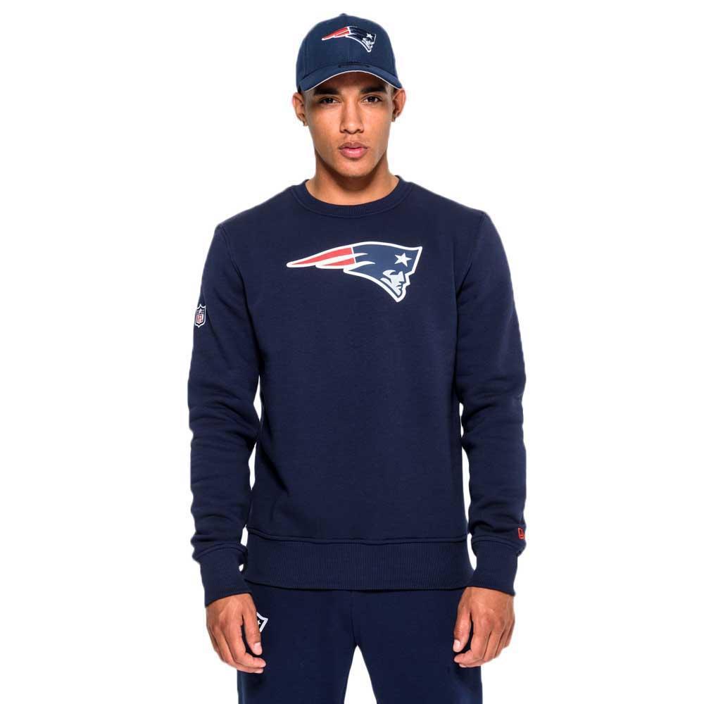 New Era New England Patriots Team Logo Crew Neck L Oceanside Blue