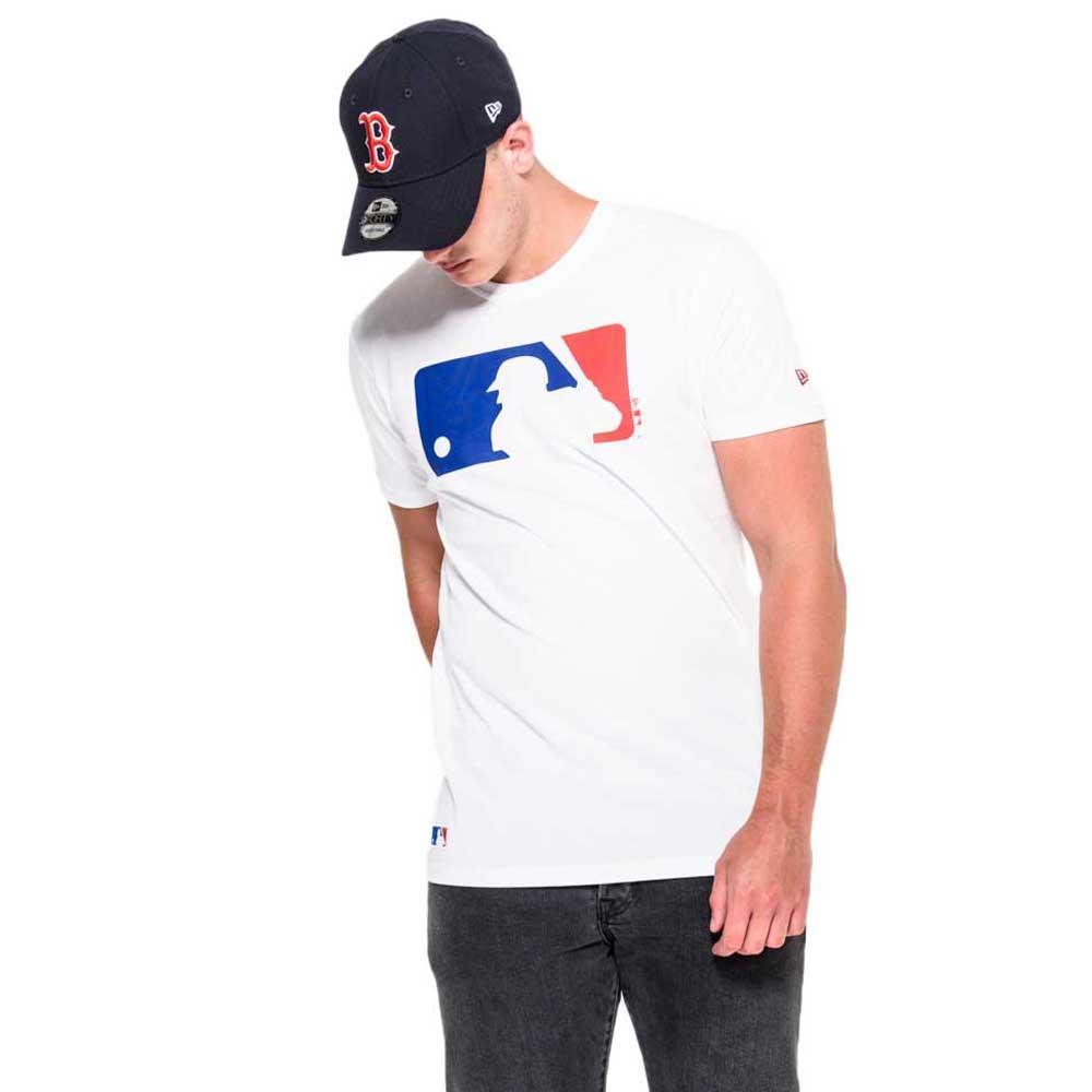 New Era T-shirt Manche Courte Mlb Logo L Optic White