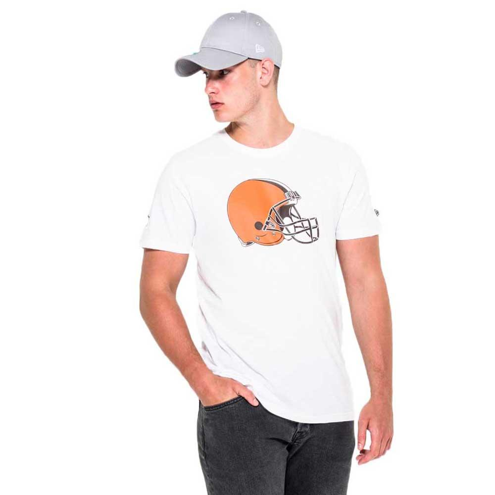 New Era T-shirt Manche Courte Cleveland Browns Team Logo L Optic White