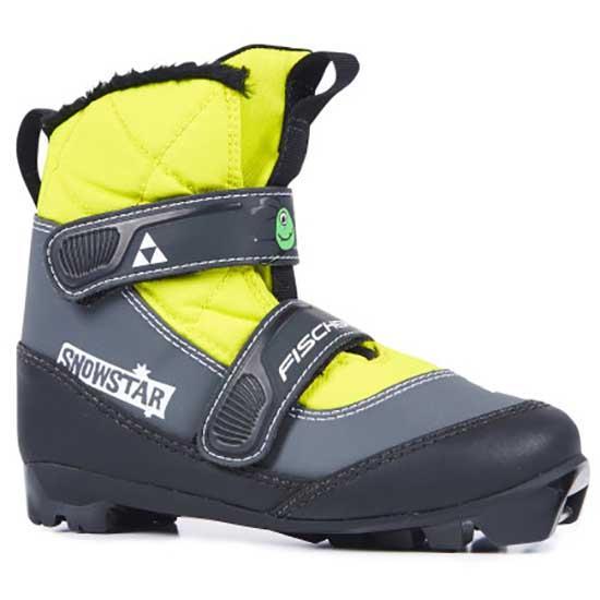 Fischer Snowstar Junior Nordic Ski Boots EU 35 Black / Yellow
