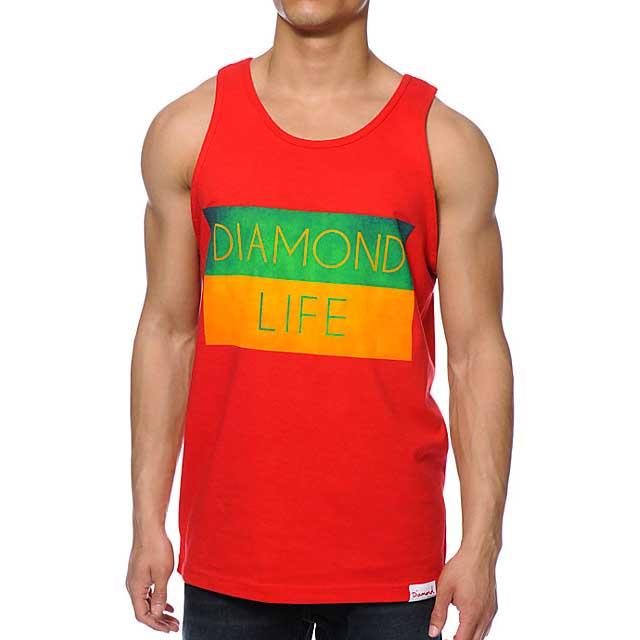 Diamond Life Flag S Red