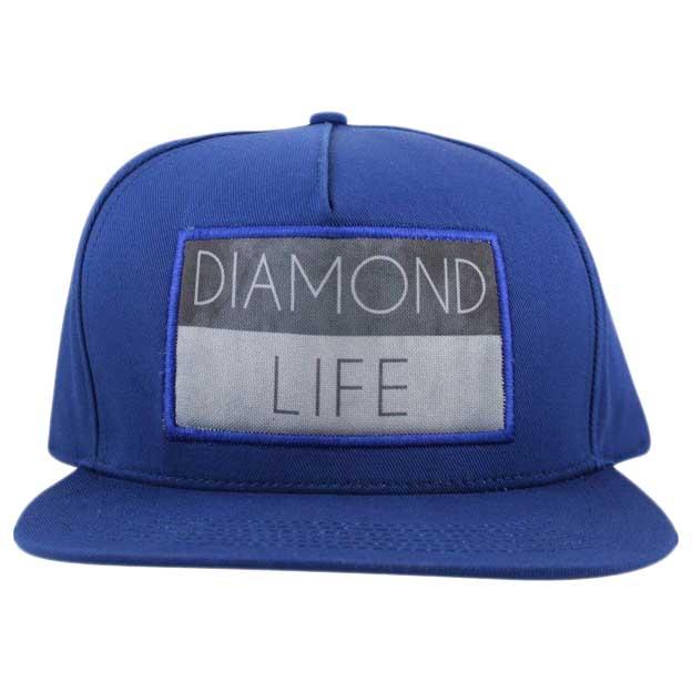 Diamond Life Flag Snapback One Size Royal