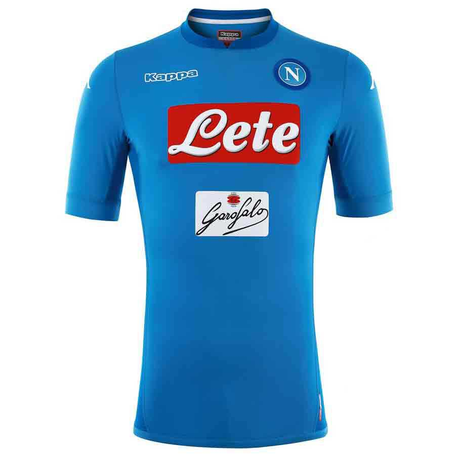 Kappa Ssc Napoli Home 17/18 Junior 6 Years Azure