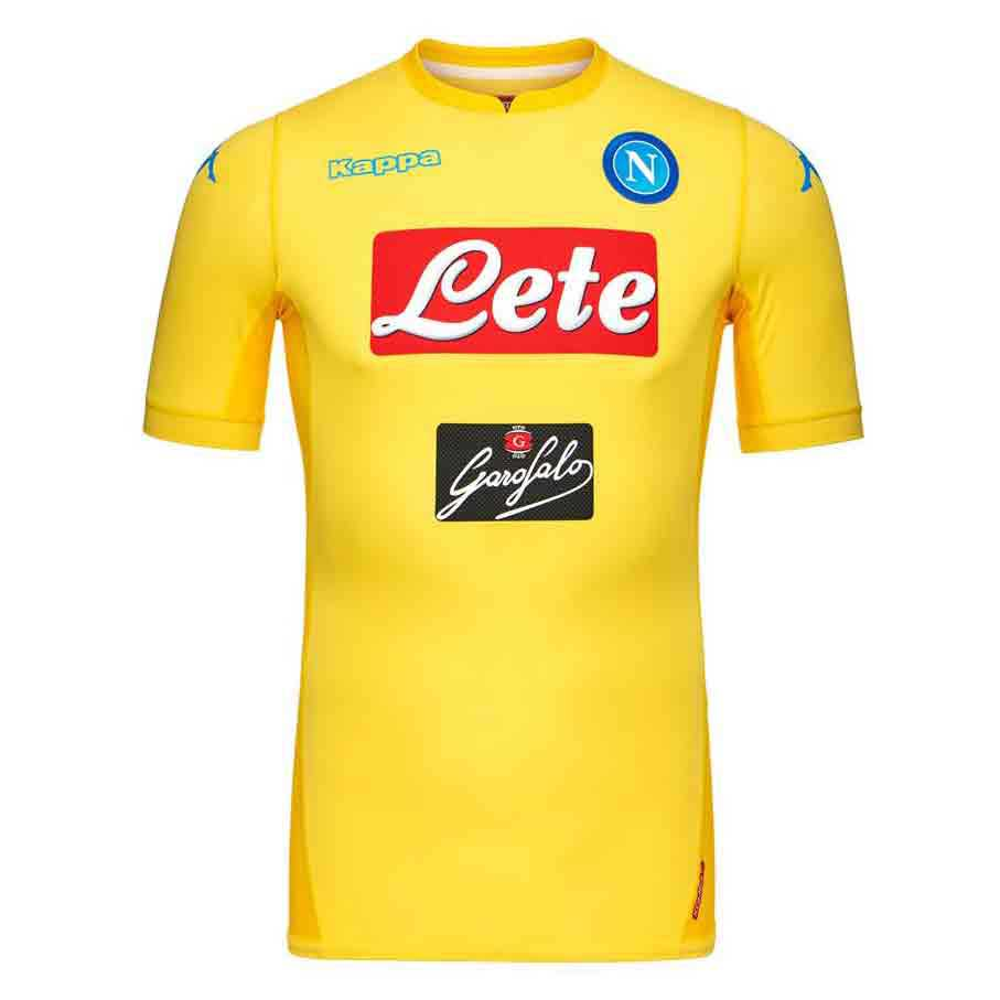 Kappa Ssc Napoli Away 17/18 M Yellow