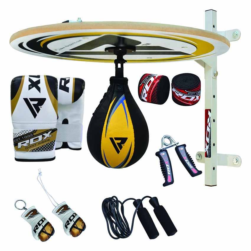 Rdx Sports Speed Ball Stand 12 Pc Reg With Ball One Size Yellow / Blue