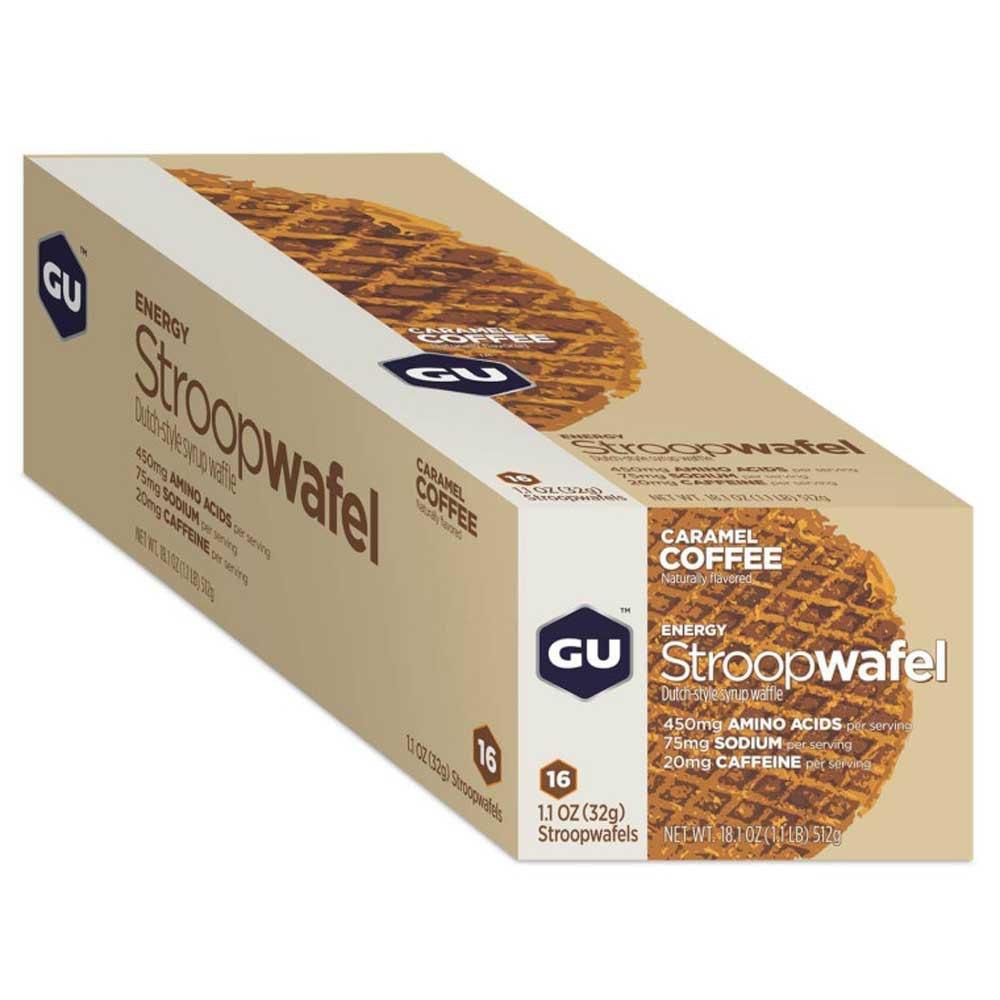 Gu Stroopwafel 16 Unités Caramel&café One Size