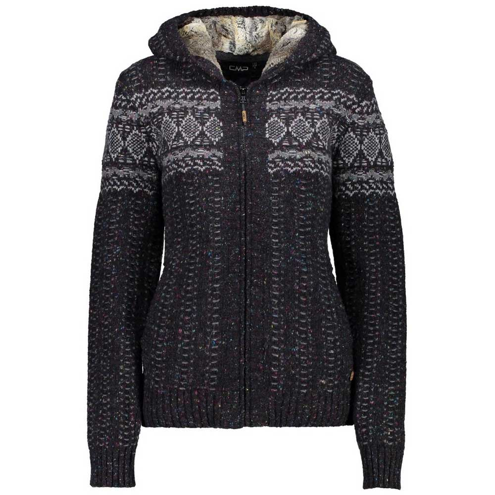 Cmp Knitted Pullover S Black