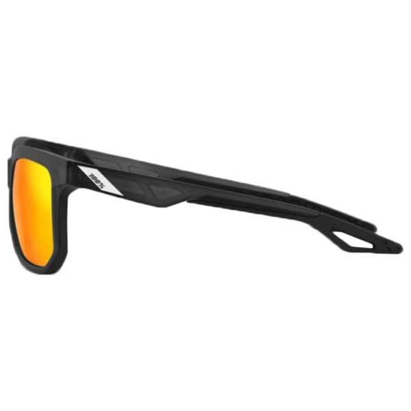 100percent-centric-matte-hiper-red-multilayer-mirror-lenses-black