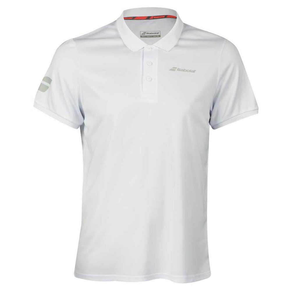 Babolat Core Club Polo 10-12 Years White / White
